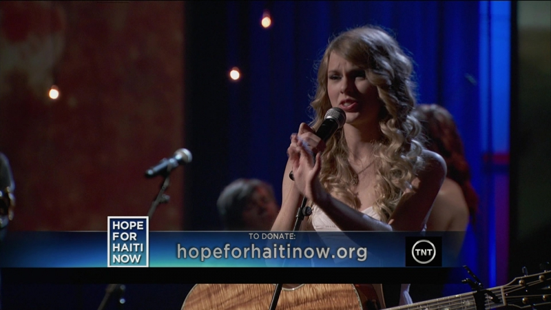 Taylor Swift - Breathless (Live at Hope for Haiti telethon 2010)