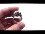 Fifth dimension effect - exclusive custom handmade ring