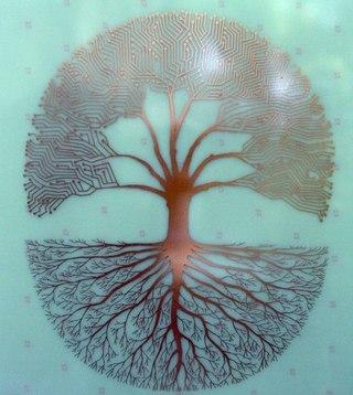 Каждый из нас представляет собой дерево: чем выше мы поднимаемся наверх, к небу - сквозь ветры и дожди - к Богу...