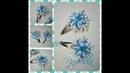 Сніжинки канзаши на заколочках клік клак Снежинки на заколочках клик клак Snowflake kanzashi