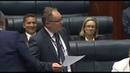 """MP Singing in Parliament of Western Australia """"Plastic Bags banned [Sounds of Silence]"""