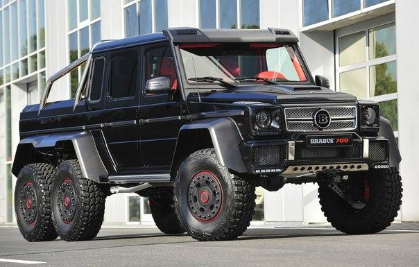 Brabus B63S - 700 6x6  Двигатель: бензиновый (5461 см³)  Мощность: 690 л.с. Крутящий момент: 960 Нм  Привод: полный Разгон до сотни: 7,4 сек  Максимальная скорость: 160 км/ч