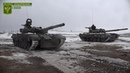 Занятия танковых экипажей НМ ЛНР по огневой подготовке