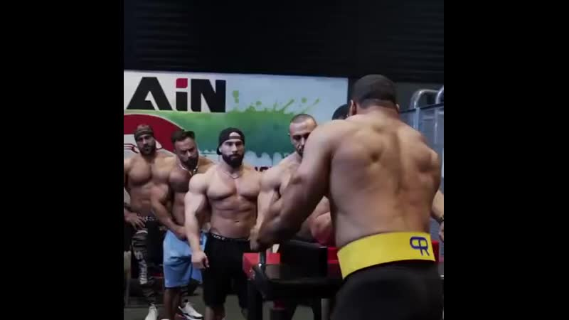 Armwrestling with 5 of the biggest guys in the GYM