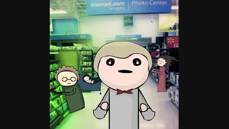 Kid Singing in Walmart (Lowercase EDM Remix __ Official Music Video FULL Animation)