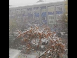 Снегопад в Караганде, Казахстан - 14.10.2018