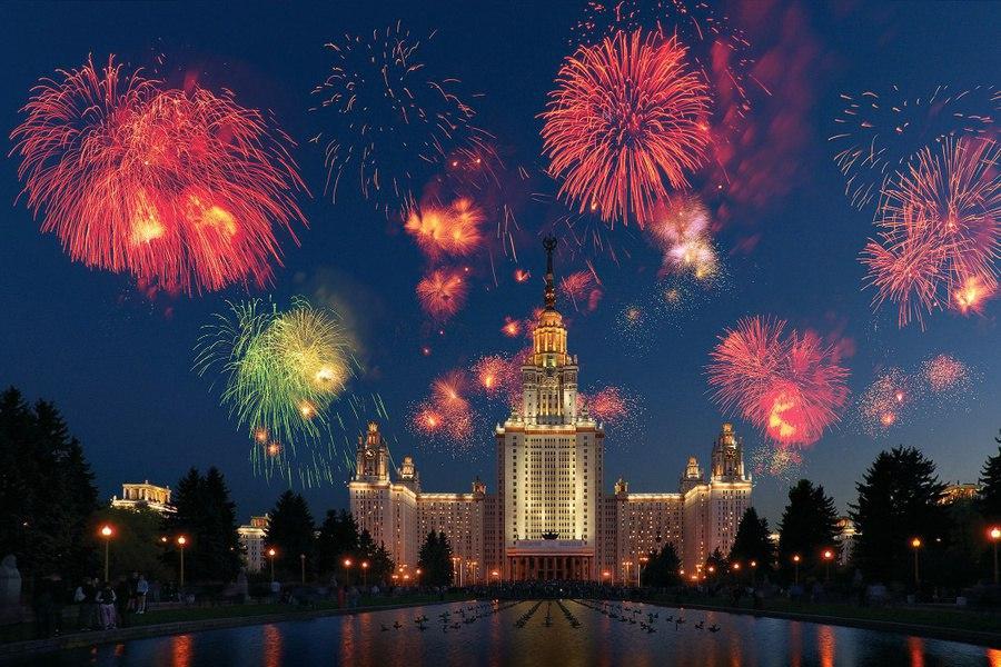 Праздничный салют в День Победы запустят с 16 площадок  9 мая в Москве запланирован праздник. Днём пройдёт крас...