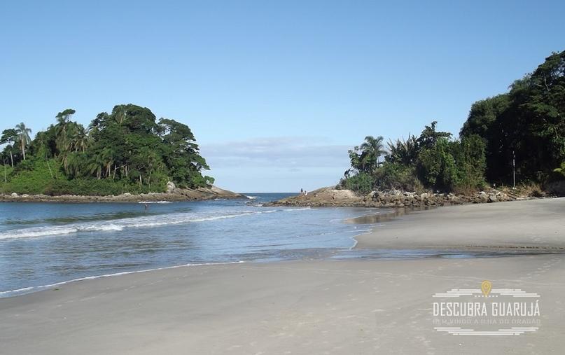 Praia de Tijucupava em Guaruj#225; Litoral Paulista