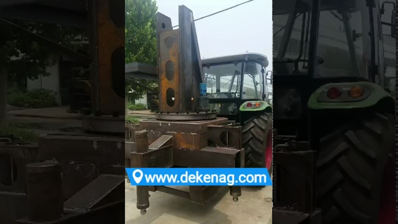 Farm tractor crane producion condition