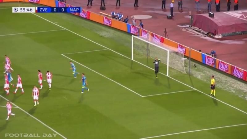 Црвена Звезда - Наполи 0-0 Обзор матча Лига Чемпионов 18 09 18