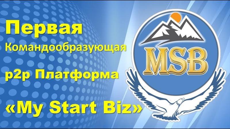 My Start Biz - Первая Командообразующая p2p Платформа - Промо видео 1