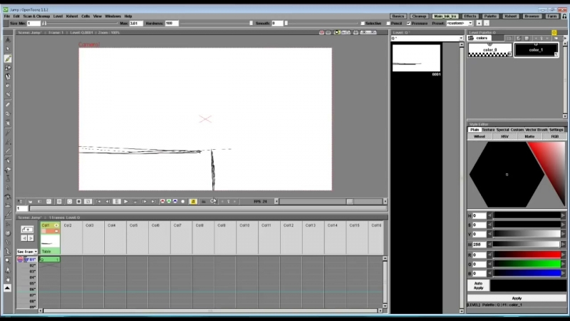(OpenToonz) How to Make your First Animation! EASY for BEGINNERS Tutorial! -Parkour Action-
