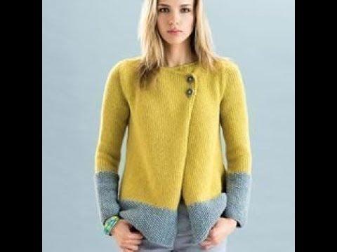 Пуловер на Пуговицах Спицами - 2019 Button Down Pullover