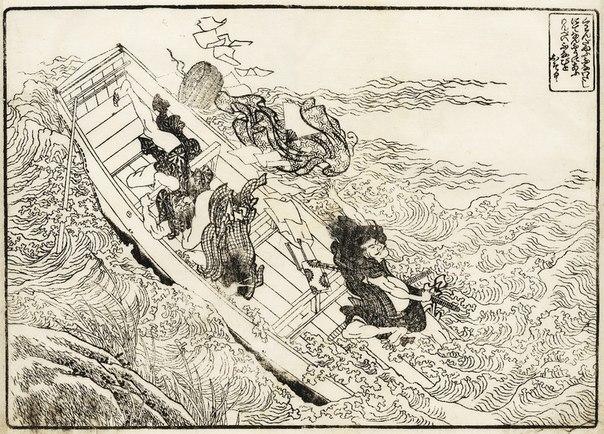 Хокусай — книжная графика