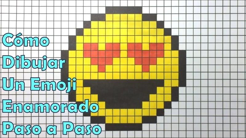 Cómo Dibujar un Emoji Enamorado en 8 bit o Pixel Art! TUTORIAL PASO A PASO