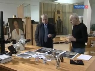 Исследование и реставрация прижизненного портрета Ксении Петербургской из фонда Эрмитажа