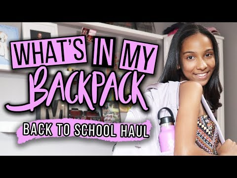 What's In My Backpack 2018-2019 | Back to School Haul!
