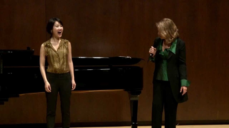 Renée Fleming Master Class, February 13, 2014 Hyesang Park and Bretton Brown