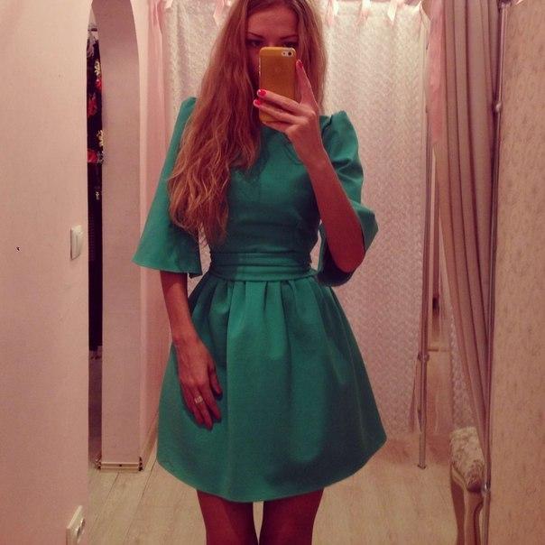платье с юбкой колокольчик фото