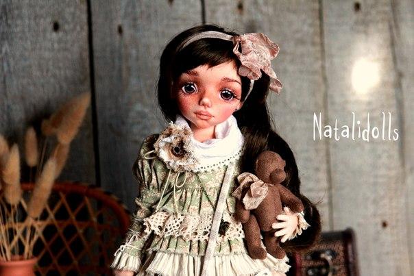 Авторская текстильная кукла в стиле бохо…. (4 фото) - картинка