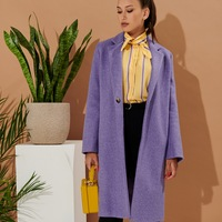 06f43e7c451 Минималистичное пальто прямого кроя из смесовой шерсти TOP20 Studio