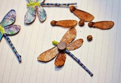 Аппликация стрекоза из природного материала своими руками 6