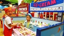 Family fun Indoor Playground for kids Ice Cream toy play with Ben and Anto