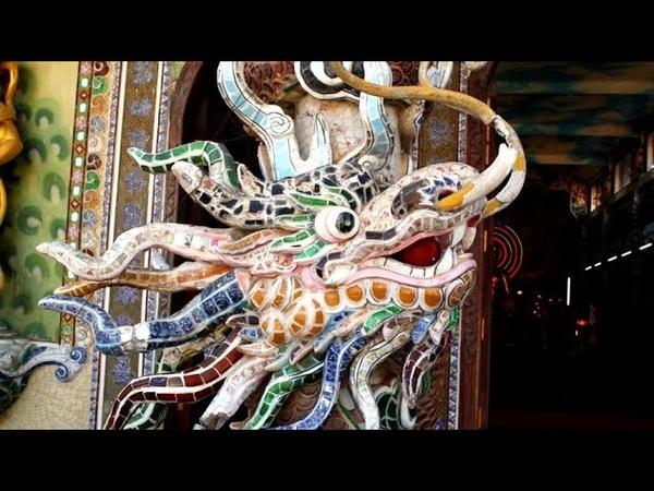 230 Вьетнам Пагода ЛИНЬ ФУОК храм ТЫСЯЧИ ДРАКОНОВ Vietnam Linh Phuoc TEMPLE OF THOUSAND DRAGONS