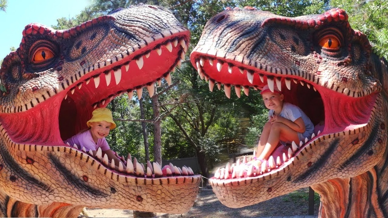 ПАРК ДИНОЗАВРОВ Затерянный мир в Евпатории СТРАШНЫЙ ДИНОЗАВР в Динопарке GIANT LIFE SIZE Dinosaur