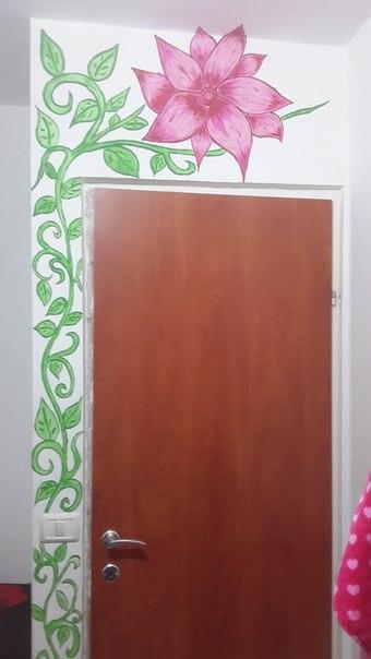 Идея для тех кому надоели белые стены Вам понадобятся: акриловые краски,