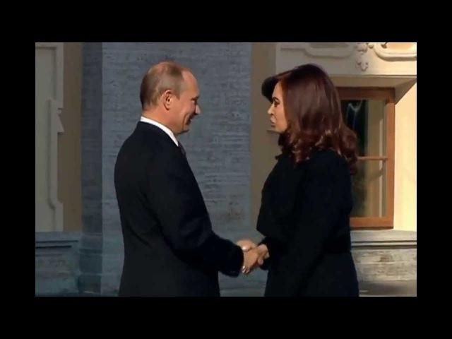 В Путин и красотка Кристина Фернандес де Киршнер 05 09 2013 G20 Санкт Петербург