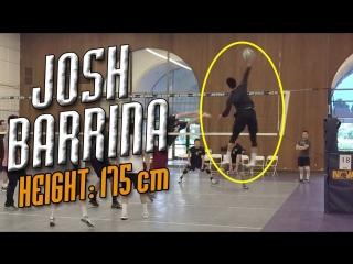 Josh Barrina - KING of the Vertical Jump _ Volleyball Attacks