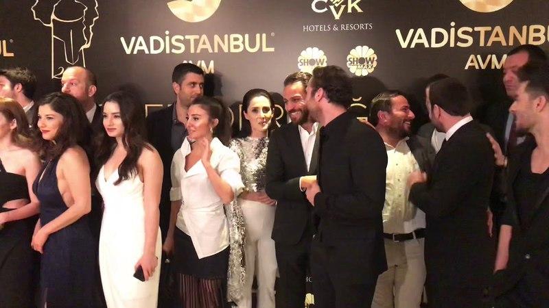 Çukur dizi oyuncuları Magazin Gazeteciler Derneği Ödül Törenini bastı