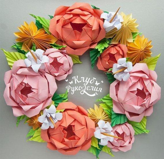 Бумажные цветы (9 фото) - картинка