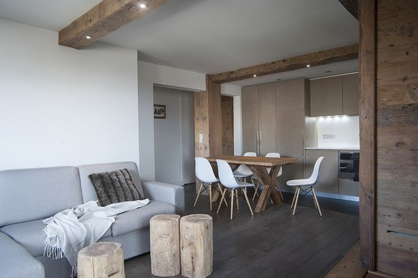 Квартира площадью 50 кв.м. в стиле альпийского шале во Франции