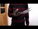 Как сделать перчатку Фредди Крюгера из ножей 2 часть