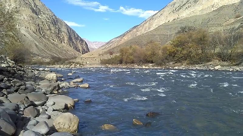 3 Река Андийское Койсу не доезжая Агвали, Цумадинский район, ноябрь 2018   туризм в Дагестане