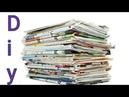 Reciclaje Fácil y Útil de Periódicos - Manualidades Con papel Periódicos - DIY Newspaper Craft