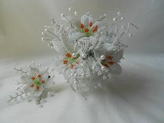 Свадебные букеты из бисера схемы плетения