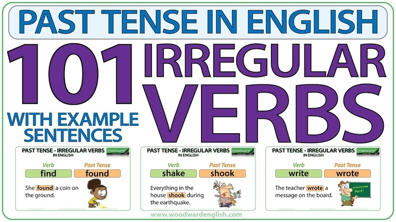 101 Irregular Verbs - Past Tense in English