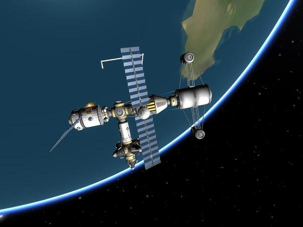 Вывод ракеты на орбиту через сохранение