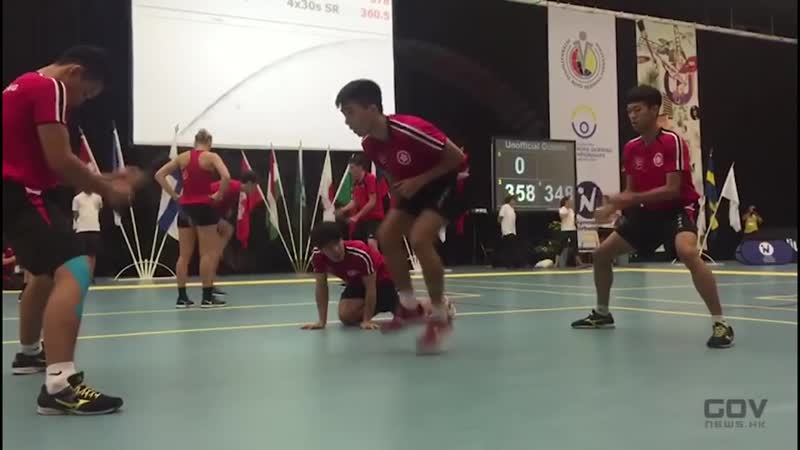 香港跳繩代表隊包辦2016世界賽男子冠亞季軍 (29.7.2016)