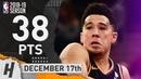 Devin Booker Full Highlights Suns vs Knicks 2018.12.17 - 38 Pts, 2 Ast, 6 Rebounds!