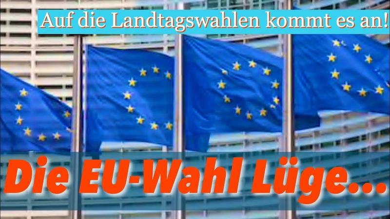 DIE GROSSE TÄUSCHUNG: Nicht auf die EU-Wahl, auf die Landtagswahlen kommt es an.
