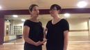 Lilli Ann and Claire в рамках зимних классов по кросс-степ вальсу