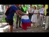Как жители Юго Востока Украины реагируют на русский триколор | Новости Новое Украина Россия Сегодня