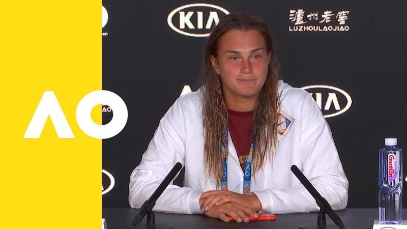Aryna Sabalenka press conference (2R)   Australian Open 2019