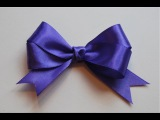 Как сделать Бантик из ленты / Satin ribbon Bow
