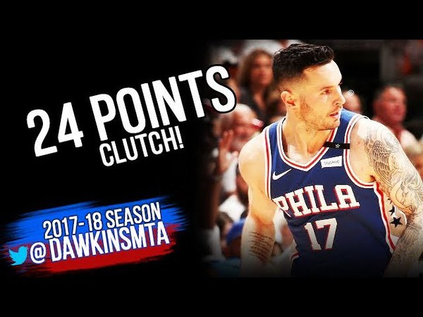 JJ Redick Full highlights 2018 ECR1 Game 4 Philadelphia 76ers vs Heat - 24 Pts! | FreeDawkins