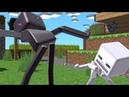 Black White Twerk Battle Эндермен( Enderman ) VS Скелет Дудец ( Sceleton ) Майнкрафт Анимация